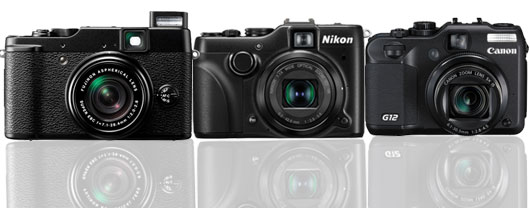Fujifilm Comparsion review with Canon G12 and Nikon P7100