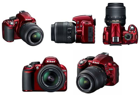 Nikon D3100 in red