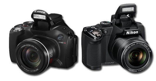 Canon SX 40 HS vs Nikon P500, See our super zoom camera comparison