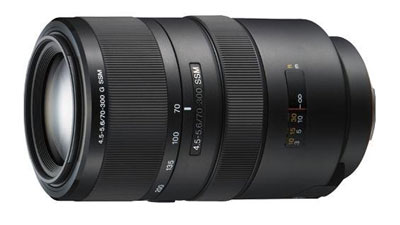 Sony 300mm G Lens for Sony A77 DSLR
