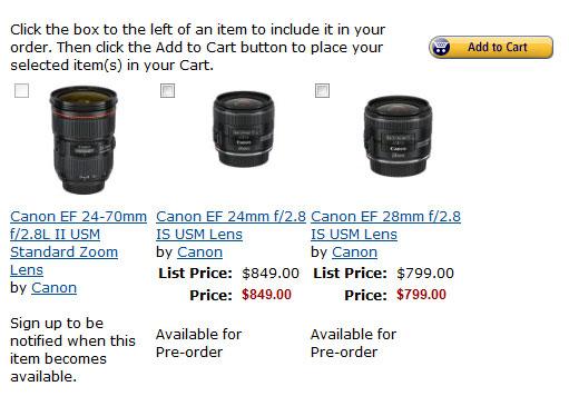 Canon new EF lenses