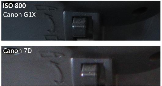 Canon G1X vs Canon 7D
