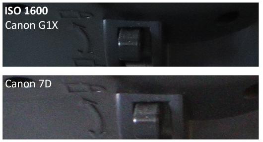 Canon G1X vs 7D ISO 1600