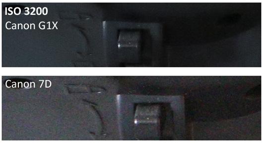 Canon G1X vs 7D ISO 3200
