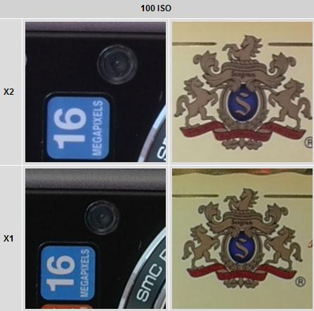 Leica X2 vs X100 ISO 100