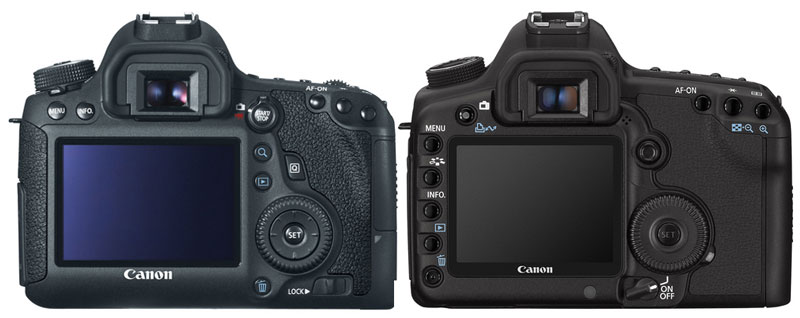 Canon 6D vs 5D Mark II Back