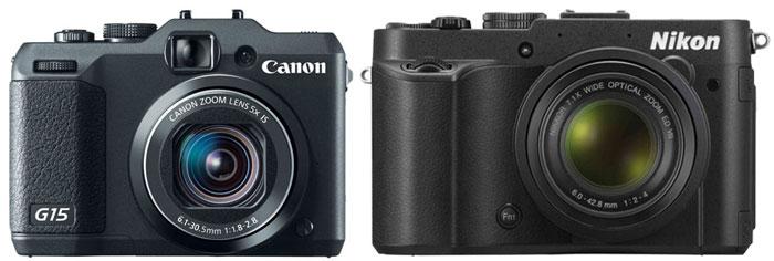 Canon 15 vs Nikon P7700