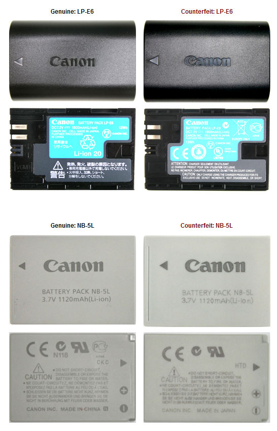 Fake Canon Battery Charger