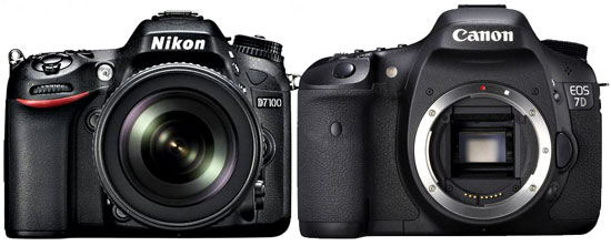 Nikon D7100 vs Canon 7D Specification comparison review, Nikon D7100