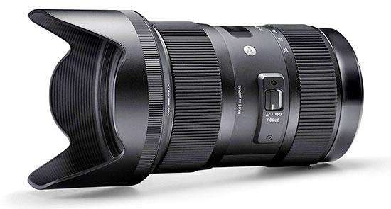 Sigma F1.8 Zoom Lens Side Image