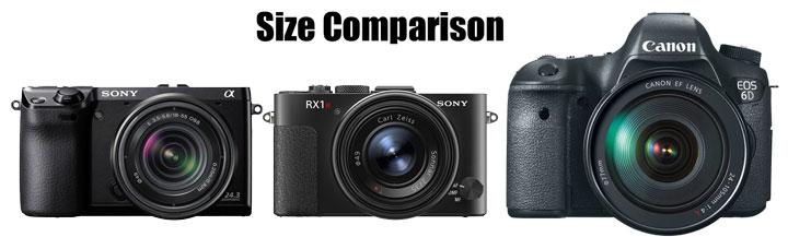 Sony NEX 7 vs Sony RX1 T vs Canon 6D