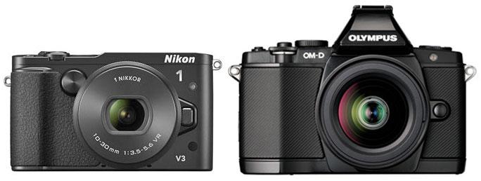 Nikon-V3-vs-Olympus-E-M5