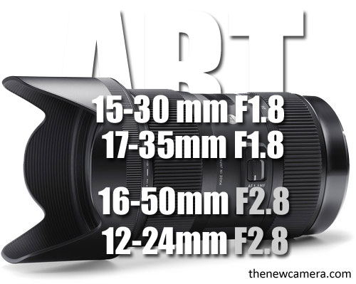 zoom lenses for APS-C format DSLR, take a look at the list below