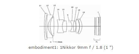Nikon 9 mm lens patent