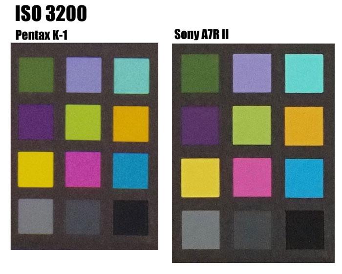 Pentax K-1 vs Sony A7R II - ISO 3200