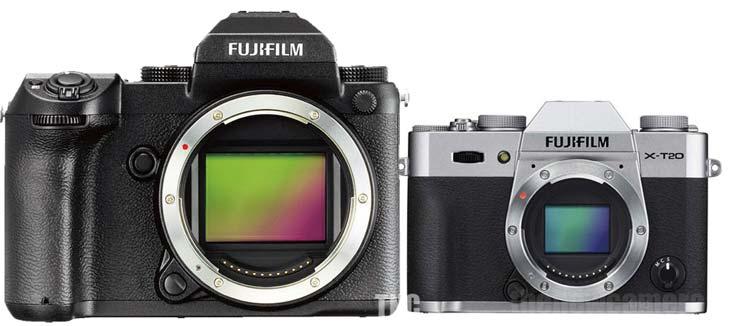 Fujifilm GFX 50S vs Fuji X-T20