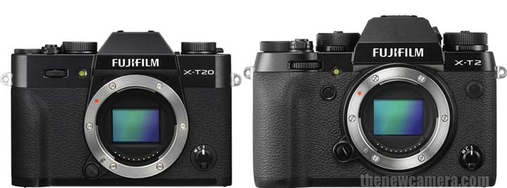 Fuji X-T20 vs X-T2 image