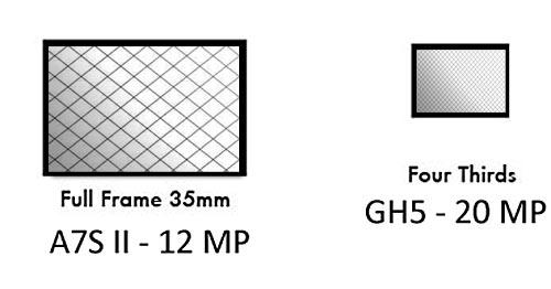 Sensor size and pixel