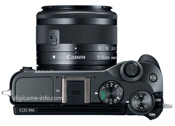 Canon EOS M6 top[ image