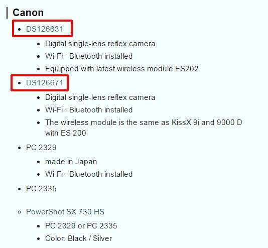 Canon NExt DSLRs