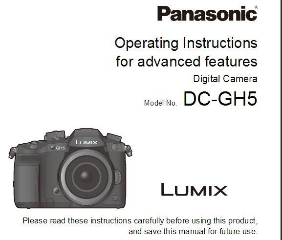 GH5 camera user manual