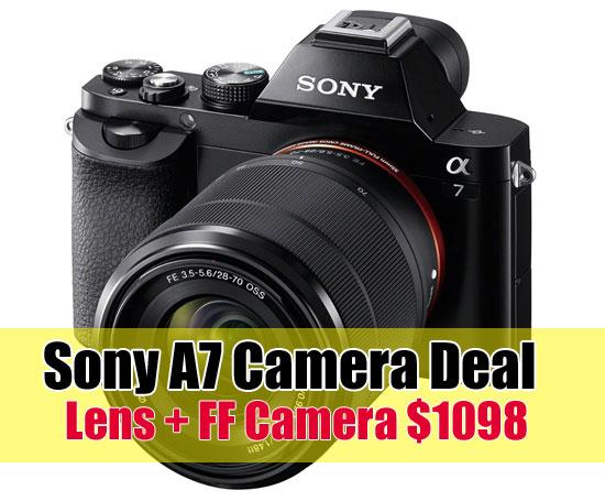 Sony A7 camera deal image