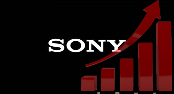 Sony sales graph up image