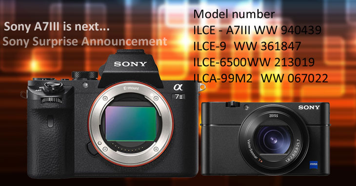 Sony A7 III announcement is next