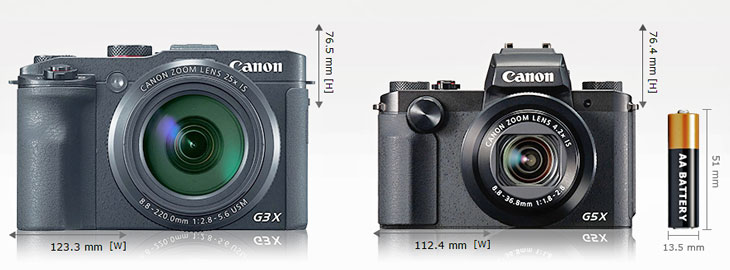 Canon G3X and G5X image