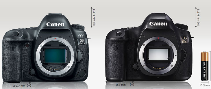 Canon 5D mark IV vs 5DS image