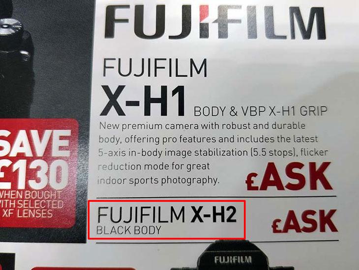 Fuji X-H2 camera