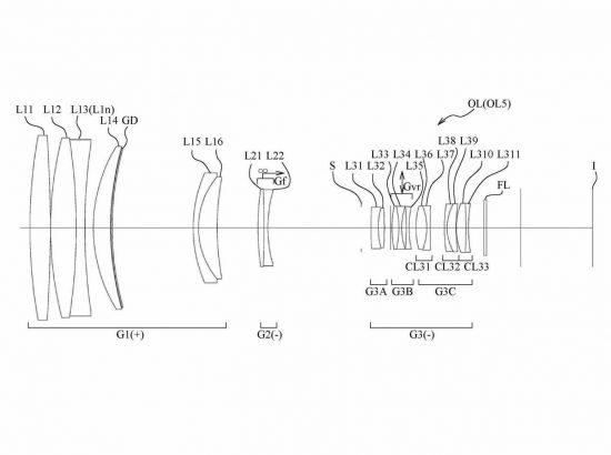 Nikon 600mm lens patent