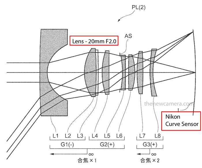 Nikon EOS Curve sensor image