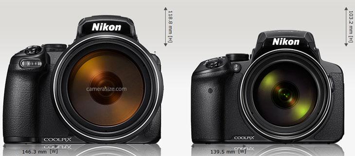 front camera size comparison